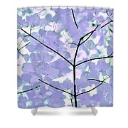 Lavender Blues Leaves Melody Shower Curtain