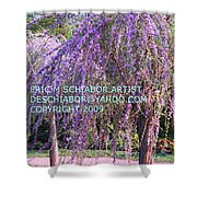 Lavender Butterfly Bush Shower Curtain