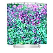 Lavender Color Flowers Shower Curtain
