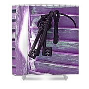 Lavender Cottage Keys Shower Curtain