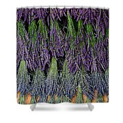 Lavender Drying Rack Shower Curtain