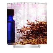Lavender Essential Oil Bottle Shower Curtain