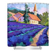 Lavender Field In St. Columne Shower Curtain