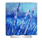 Lavender Field Landscape Shower Curtain