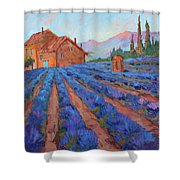 Lavender Field Provence Shower Curtain
