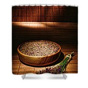 Lavender Flowers And Seeds Shower Curtain