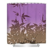 Purple Haiku Shower Curtain