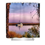 Lavender Light Reflections Shower Curtain