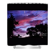 Lavender Pink And Blue Sunrise Shower Curtain