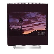 Lavender Red And Gold Sunrise Shower Curtain
