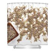 Lavender Seeds Shower Curtain