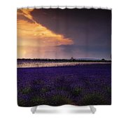 Lavender Thunderstorm Shower Curtain