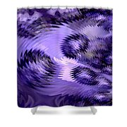 Lavender Water Abstract Shower Curtain