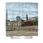 Law Courts Newcastle Upon Tyne Shower Curtain