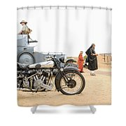 Lawrence Of Arabia Display At The Goodwood Revival Meeting Shower Curtain