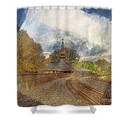 Lawrence Union Pacific Depot Shower Curtain