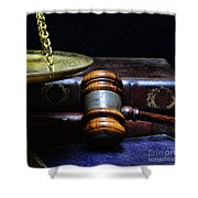 Lawyer - Books Of Justice Shower Curtain