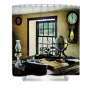 Lawyer - Globe Books And Lamps Shower Curtain
