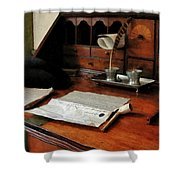 Lawyer - Quill Papers And Pipe Shower Curtain