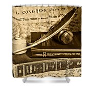Lawyer - The Constitutional Lawyer In Black And White Shower Curtain