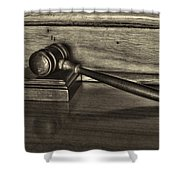 Lawyer - The Gavel Shower Curtain by Paul Ward