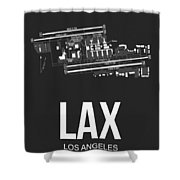 Lax Los Angeles Airport Poster 3 Shower Curtain