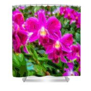 Layer Cut Out Art Flower Orchid Shower Curtain