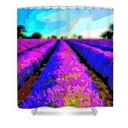 Layer Landscape Art Lavender Field Shower Curtain