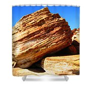 Layered Broome Rock Shower Curtain