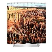 Layered Hoodoos At Bryce Canyon National Park Shower Curtain