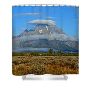 Layering Clouds Shower Curtain