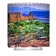 Layers Of Earth Shower Curtain
