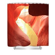 Layers Of Light And Sandstone Shower Curtain