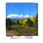 Layers Of Mountains Shower Curtain