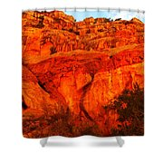 Layers Of Orange Rock Shower Curtain