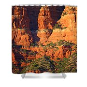 Layers Of Red Rock Shower Curtain