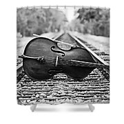 Laying Down Some Tracks Shower Curtain by Scott Pellegrin
