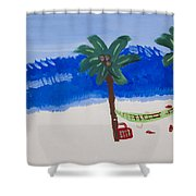 Lazy Beach Shower Curtain by Melissa Dawn