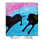 Lazy Boy Shower Curtain