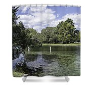 Lazy Day On The Rainbow River Shower Curtain