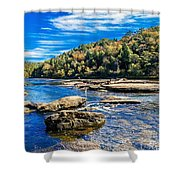 Lazy River Afternoon Shower Curtain
