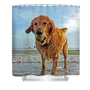 Lazy Summer Days At The Beach Shower Curtain by Nishanth Gopinathan