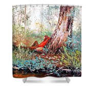 Lazy Summer's Day By Jan Matson Shower Curtain