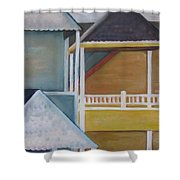 Lbi Rooftops Shower Curtain