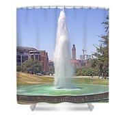 L B J Library Fountain Shower Curtain