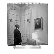 Lbj Looking At Fdr Shower Curtain by War Is Hell Store