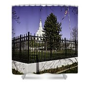 Lds Idaho Falls Temple Shower Curtain