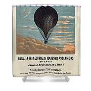Le Ballon Advertising For French Aeronautical Journal Shower Curtain
