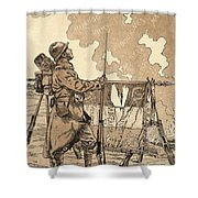 Le Bleuet. Symbol Of Memory And Solidarity In France, For Veterans And Victims Of The First World Shower Curtain