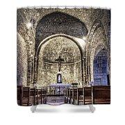 Le Castellet Medieval Church Shower Curtain